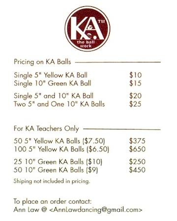 balls KA - pricelist
